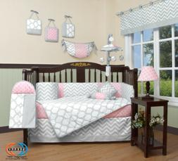 13PCS Salmon Pink Baby Nursery Crib Bedding Sets  Holiday Sp
