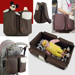 2 IN 1 Flodable Portable Baby Diaper Bagy Nappy Bag Mummy Ba