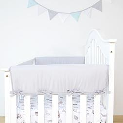 2-Pack Padded Baby Crib Rail Cover Protector Safe Teething G