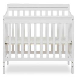 Baby Crib Bed 4 in 1 Convertible Nursery Portable Toddler Fu