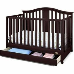 Graco Solano 4-in-1 Convertible Crib with Drawer Kids Toddle