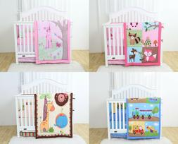 4 Piece Crib Baby Bedding Nursery Set Includes Designs for B
