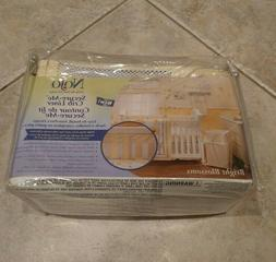 NoJo 4-Piece Secure-Me Crib Liner / Mesh / Baby Girls Bright
