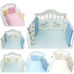 6Pcs Baby Bedding Crib Bumper Infant Bed Cot Safety Protecto