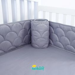 Baby Breathable Crib Bumper Pad Protector Crib Padded Liners