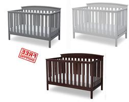 Baby Crib 4 in 1 Convertible Sold Wood Convert to Toddler BE