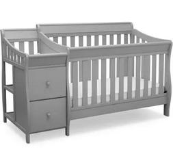Baby Crib Changing Station Nursery Furniture Toddler To Full