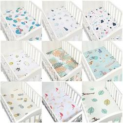 Baby Crib Fitted Sheet Cotton Baby Bed Mattress Cover Beddin