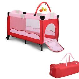 Baby Crib Infant Bed Foldable Bassinet Portable Newborn Play