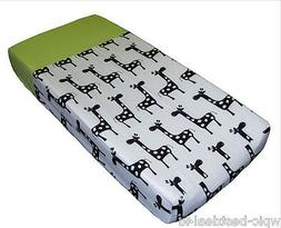 Sisi Baby Design Diaper Changing Table Pad Cover - Lime Zebr