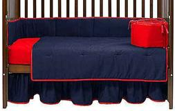 Baby Doll Bedding Solid Reversible 8 Piece Crib Comforter Se