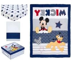 Disney Baby Mickey Mouse 4 Piece Crib Bedding Set