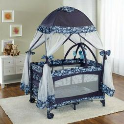 Baby Playard Crib Nursery Infant Kids Bed with Net Portable