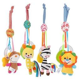Baby Plush Doll for Stroller Car Seat Hanging Bell Rattle To
