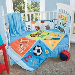 Baby Sport 5 Piece Multi-Color Crib Bedding Set