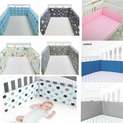 Breathable Baby Crib Bumper Mesh Liner for Cradle Newborn Pa