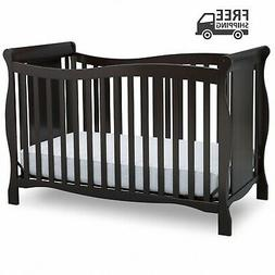 Delta Children Brookside 4-in-1 Convertible Crib Dark Chocol