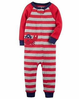 Carter's Baby Boys' 1-Piece Crab Snug Fit Cotton Footless PJ
