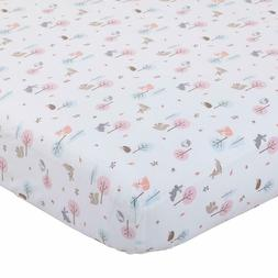 Carter's  Woodland Meadow Forest Cotton Sateen Crib Sheet -