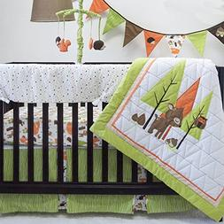 Pam Grace Creations Charming Forest 6  Piece Baby Bedding Se