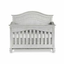 Evolur Cheyenne 5 in 1 Full Panel Convertible Crib, Antique