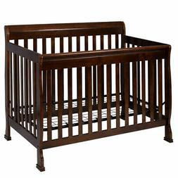 coffee pine wood baby toddler bed convertible