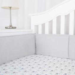 Cotton Collection Baby Safe Crib Bumper Pads For Standard Cr