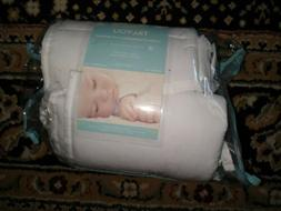 TILLYOU Cotton Collection Breathable Mini Crib Bumper Pads f