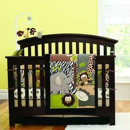 Brandream Crib Bedding Set For Boys With Bumpers Animal Prin