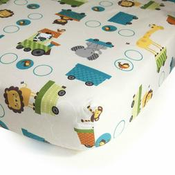Bedtime Originals Crib Fitted Sheet, Choo Choo by Bedtime Or