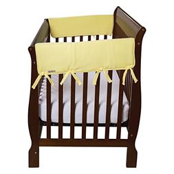 Crib Wrap Wide Rail Cover in Yellow