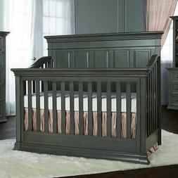 Evolur Napoli 5 in 1 Convertible Crib in Distressed Slate