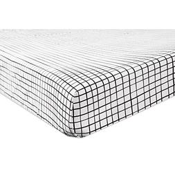Babyletto Fitted Crib Sheet, Tuxedo Grid