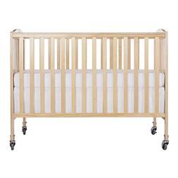 Folding Full Size Convenience Crib, Natural