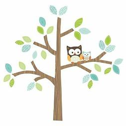 Bedtime Originals Friendly Forest Brown Tree with Owls Wall