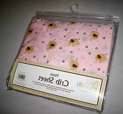 FULL CRIB SIZE - DT Baby - Elephants on Pink -  FITTED SHEET