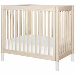 Babyletto Gelato 2-in-1 Mini Crib in Washed Natural with Whi