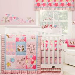 Girl Woodland 4 Piece Crib Set