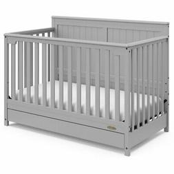 Graco Hadley 4 in 1 Convertible Crib with Drawer in Pebble G