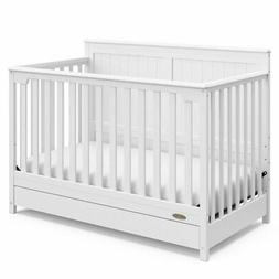 Graco Hadley 4 in 1 Convertible Crib with Drawer in White