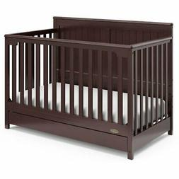 Graco Hadley 4 in 1 Convertible Crib with Drawer in Espresso