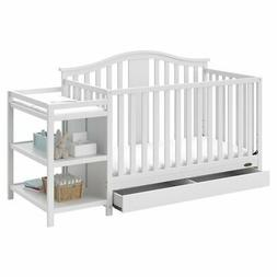 Graco Solano 3 Piece Convertible Crib and Changer Set in Whi
