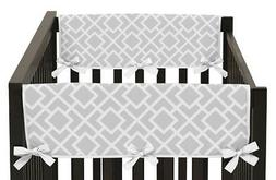 Gray and White Diamond Teething Protector Cover Wrap Baby Un
