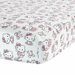 Bedtime Originals Hello Kitty Luv Bow Fitted Crib Sheet, Pin
