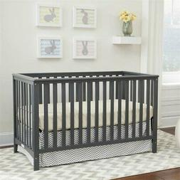 Hillcrest Fixed Side Convertible Crib, Gray