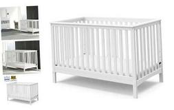 Hillcrest Fixed Side Convertible Crib, White, Easily Convert