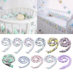 Infant Plush Crib Bumper Bed Bedding Woven Protection Fence