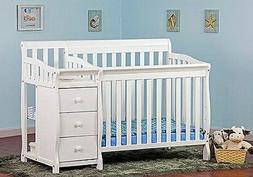 Jayden 4-in-1 Mini Convertible 2 Piece Crib Set, White