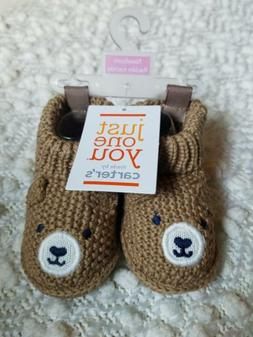 Just One You Made By Carter's Knit Bear Newborn Crib Shoes