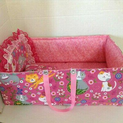 "15""Quilt doll/toy/bed-bag crib head"